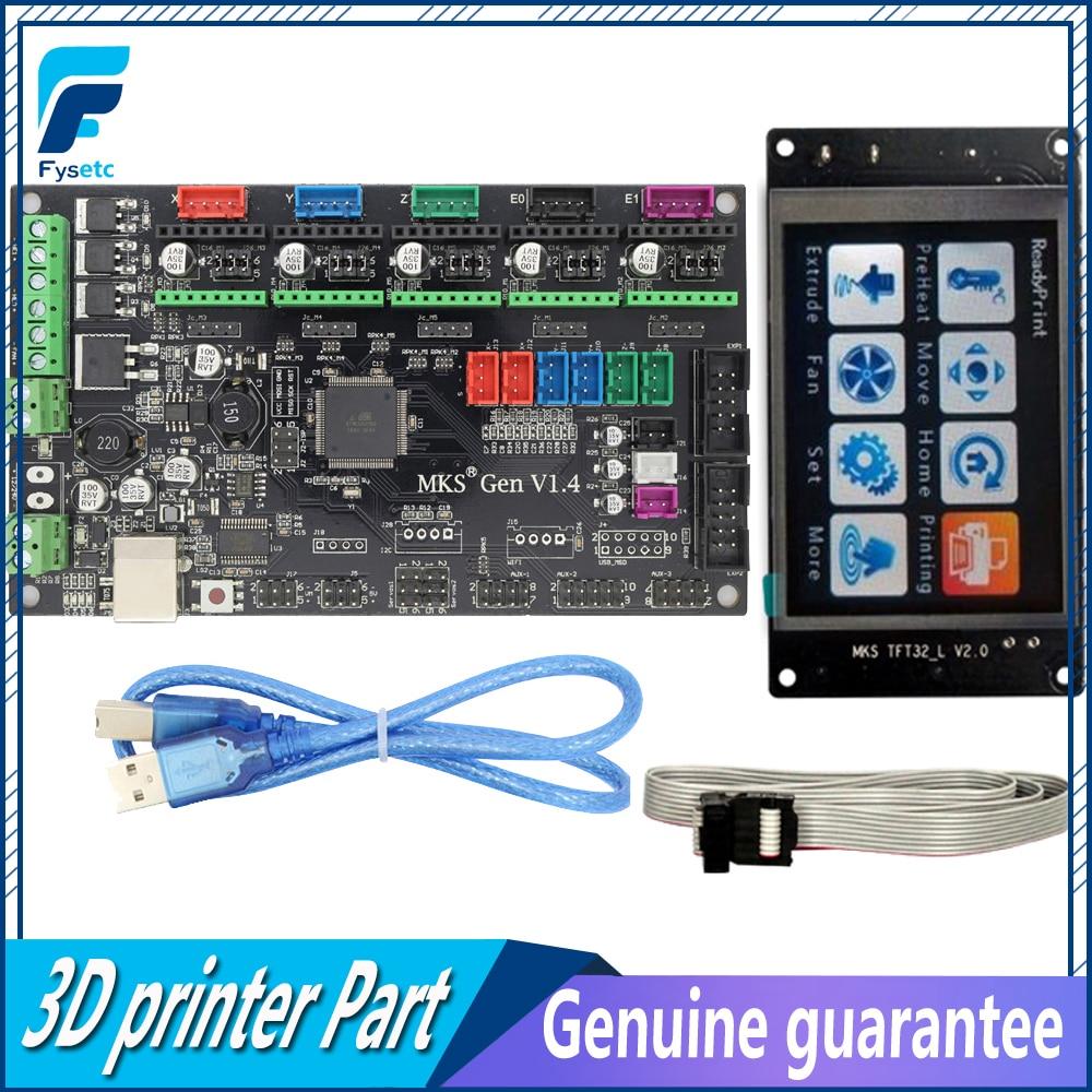 TFT32 ЖК-дисплей Экран + МКС Gen V1.4 4 слоев печатной плате контроллера встроенный плата совместима Ramps1.4/Mega2560 R3 3D принтер