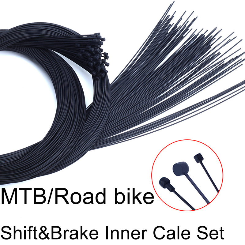 4pcs Teflon Coated Shifting&Brake Inner Cable Group For MTB bike Road Bicycle Front Rear Derailleur Brake Inner Cable Wire Sets bike attitude inner wire brake nipple 7 6 6 10 тормозной тросс 1