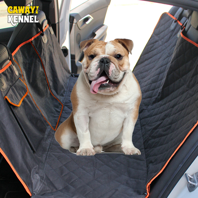 CAWAYI KENNEL Dog Waterproof Rear Back Carriers Pet Dog Car Seat Cover Mats Hammock Protector With Safety Isolation Net D1393