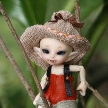 Frete grátis fairyland realpuki akia 1/13 boneca bjd rosa sorriso elfos brinquedos para crianças presente para meninos meninas aniversário