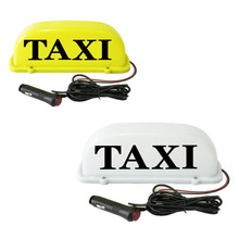Yellow lampshade taxi lamp Magnets adsorb roof lamps Light source light