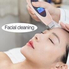 Professional Ultrasonic Skin Scrubber shake Peeling Extractor FacialDeepCleaning Beauty Device Nano Care Rejuvenation