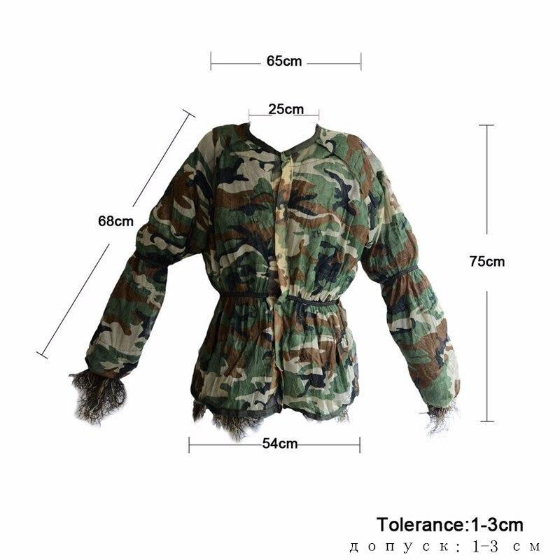 Ghillie de chasse en plein air costumes 3D Bionic armée Airsoft uniforme Sniper chasse vêtements Camouflage Ghillie costume vêtements pour la chasse - 3