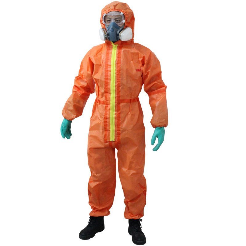 3M 4690 Protective Clothing Nuclear Radiation Protective Chemical Isolation Protective Clothing Orange EN Standard B81608 my friend fear