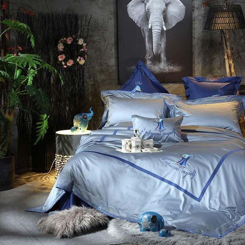 4/6/7Pcs Luxury 100S Egypt Cotton Ornate Peacock Bedding Set Embroidery Duvet cover Bed Sheet Pillowcases Queen King Size4/6/7Pcs Luxury 100S Egypt Cotton Ornate Peacock Bedding Set Embroidery Duvet cover Bed Sheet Pillowcases Queen King Size