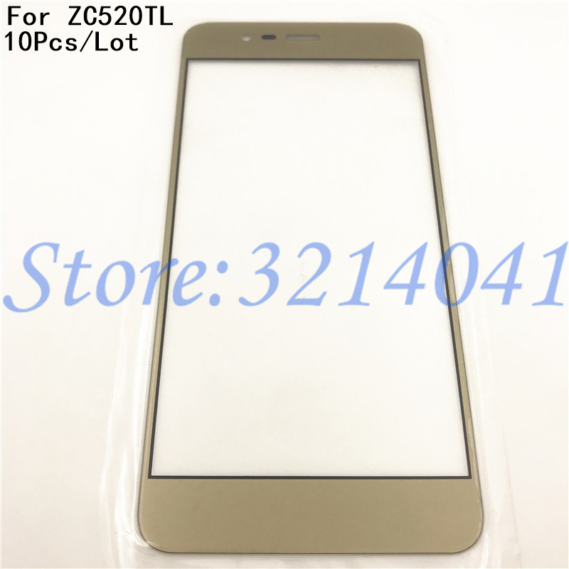 10Pcs/Lot 5.2 For Asus Zenfone 3 Max ZC520TL X008D Mobile phone lcd Outer Touch Screen Front Glass Lens Cover Panel Parts