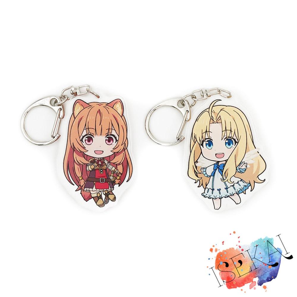 The Rising Of The Shield Hero Tate No Yuusha No Nariagari Anime Raphtalia Firo Filo Cute Acrylic Keychain
