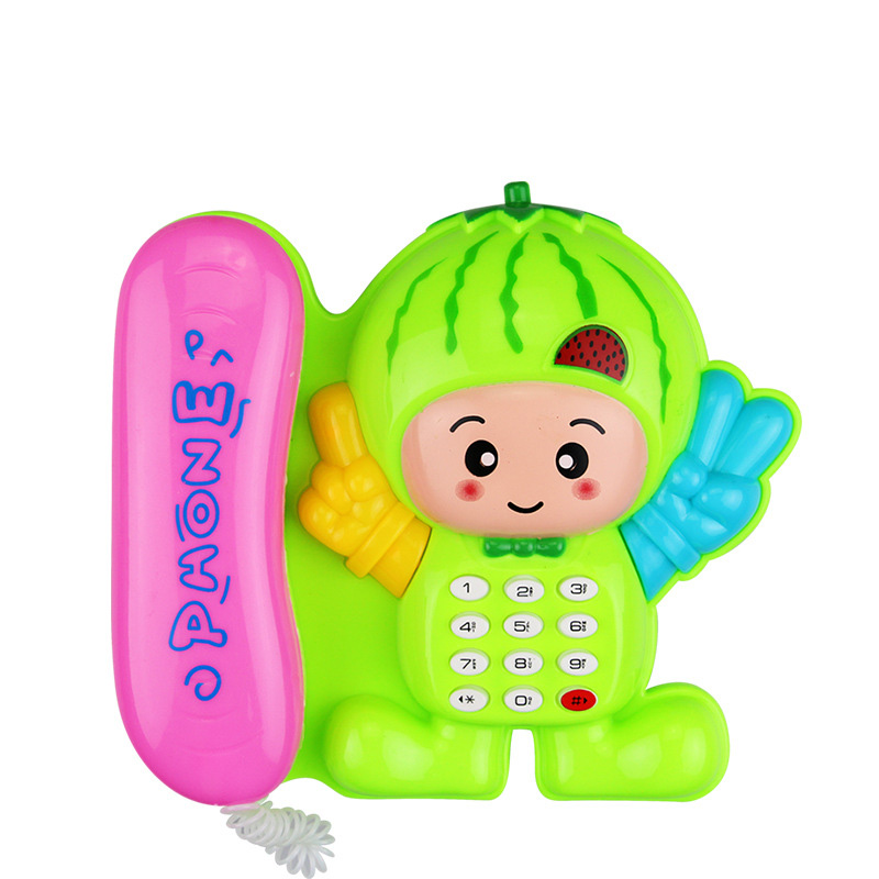 Electronic Baby Phone Cartoon Mushroom  Telephone Educational Learning Music And Sound Telephone Toys For Children Random Colour