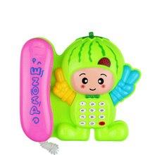 Электронный телефон детские мультфильм Гриб телефон образовательные обучения музыка и звуковые телефон игрушки для детей случайный цвет