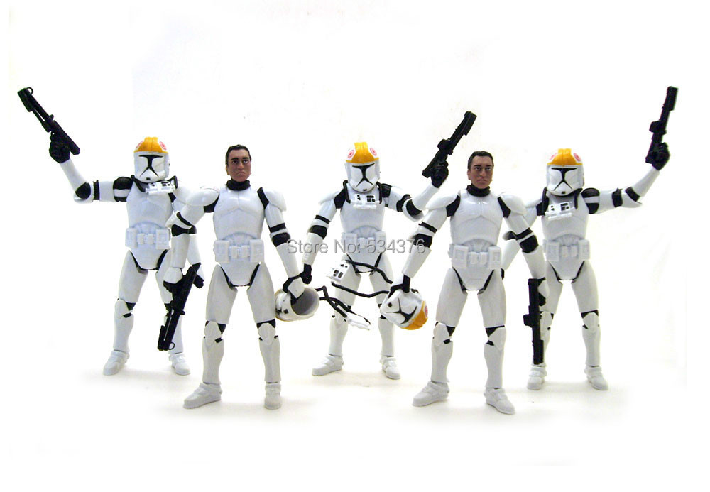 Persevering 5pics Star Wars Clone Wars Republic Trooper Gun Ship Pilot Removable Helmet 3.75 Action Figure Action & Toy Figures