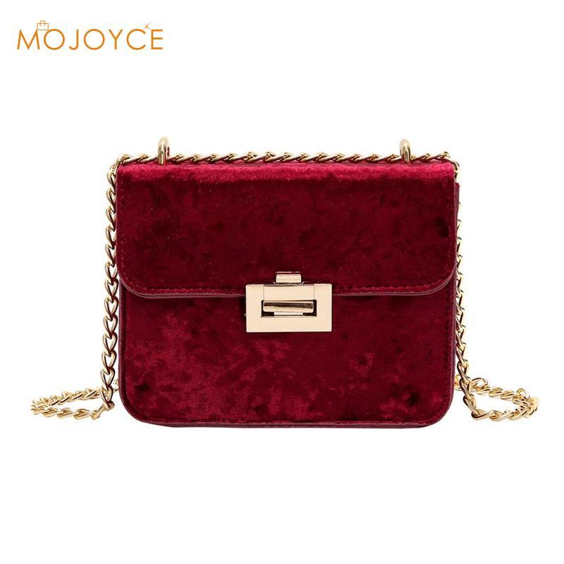 Stylish Women Clutch Shoulder Bag Bridal Chain Velvet Silk Bottom Handbag 2019 E