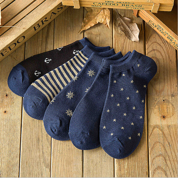 2017 New Style Vintge Brand Socks Men Fashion Blue Personality Sock Women For Young People