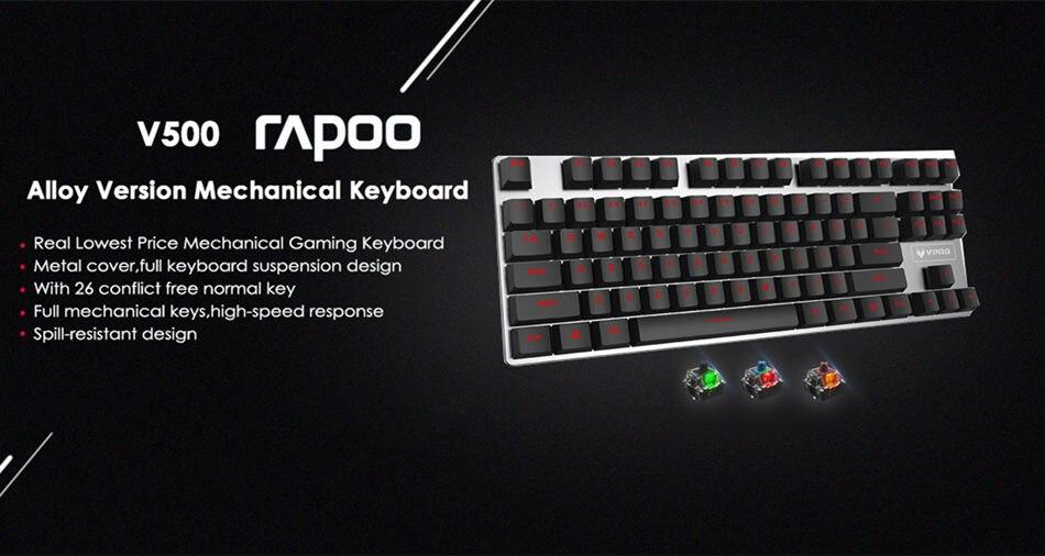 Rapoo V500 Alloy Version Mechanical Gaming Keyboard Teclado Rapoo V500 Alloy Version Mechanical Gaming Keyboard Teclado HTB1z6OChPuhSKJjSspdq6A11XXaL