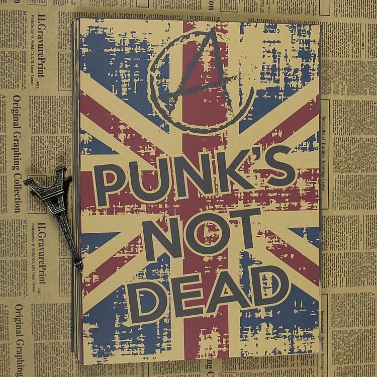 vintage poster is not dead punk retro kraft rock punk poster