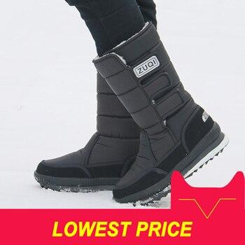 2018 мужские ботинки, зимние ботинки на платформе для мужчин, толстая плюшевая непромокаемая Нескользящая зимняя обувь, большие размеры 36-47