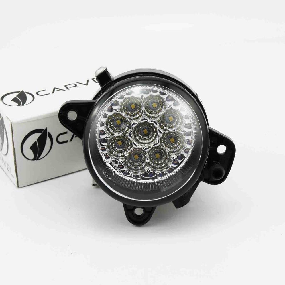 LED Light For VW Transporter T5 2003-2010 High Quality 9 LED DRL Left Side Fog Light Fog Lamp Car Styling