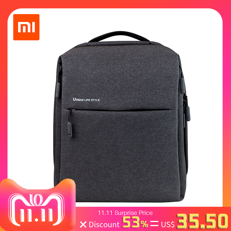 Original Xiaomi Mi Backpack Urban Life Style Shoulders Bag Rucksack Daypack School Bag Duffel Bag Fits 14 inch Laptop portable xiaomi 90fun urban city simple backpack 14inch laptop waterproof mi rucksack daypack school bag learning portable backpacks
