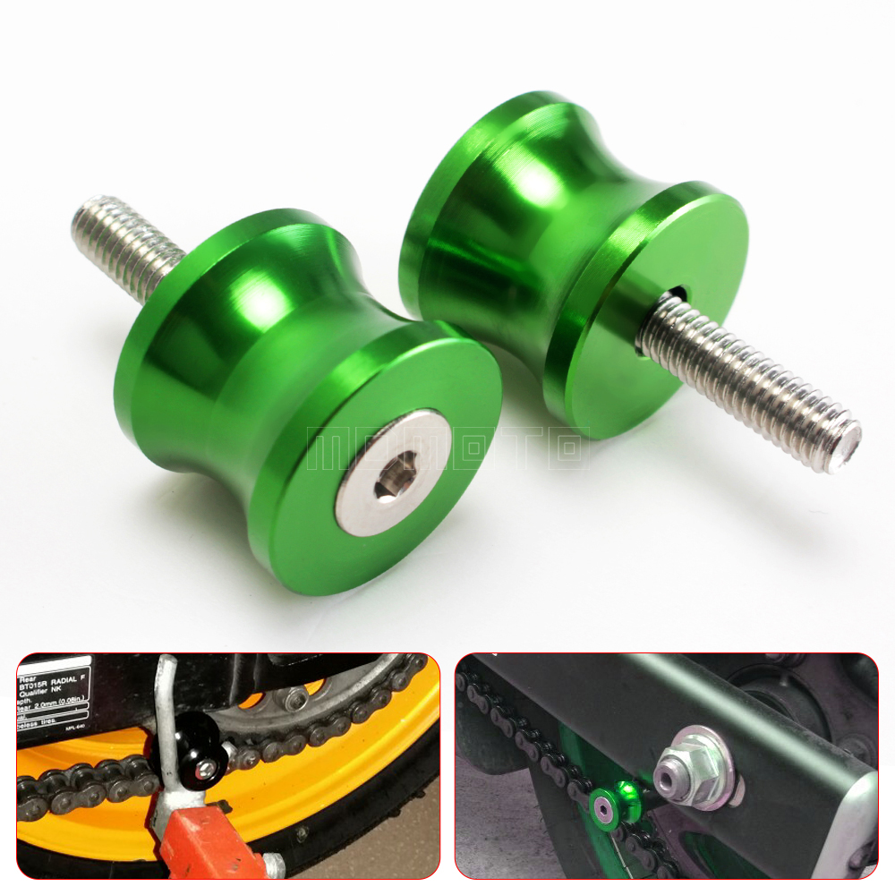 CNC motorcycle Swingarm Sliders Spools for kawasaki Z800 Z1000 Z900 versys 650 1000 zx6r zx10r er6n z1000sx screws stand Slider