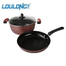 Coffee Color 2pcs Pot Set Non-Stick Cookware Set Milk Pot Saucepan Cooking Tools For Cook Fried Pan Kichent Utensils CK006