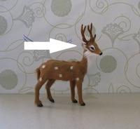 Simulation Christmas Deer Model Toy Polyethylene Furs Reindeer 13x17cm Handicraft Christmas Decoration Gift A2517