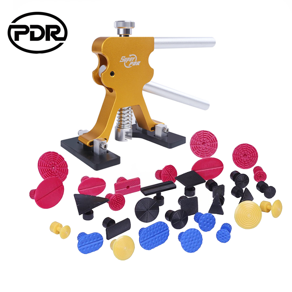 PDR Tools Dent Puller Kit Paintless Dent Repair Tool To Remove Dents Auto Repair Set Lifter Removal Glue Tabs  Hand Tool Set whdz 64pcs pdr tool dent lifter paintless dent hail removal repair tools glue pdr tool kit pdr pro tabs tap down line board