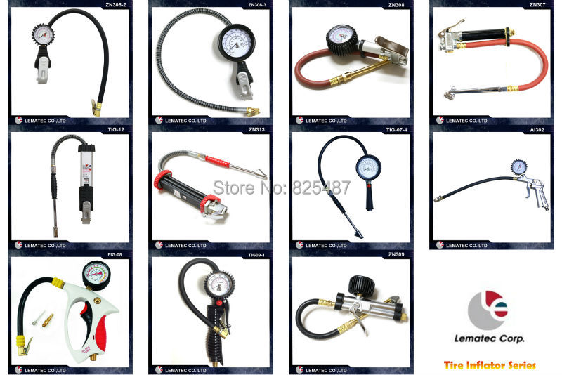 LEMATEC Pro sunkiųjų padangų pripūtiklis su manometru Padangų - Elektriniai įrankiai - Nuotrauka 3
