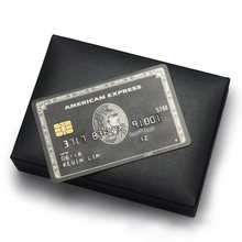 Metal card black card and production American express gift card(China)