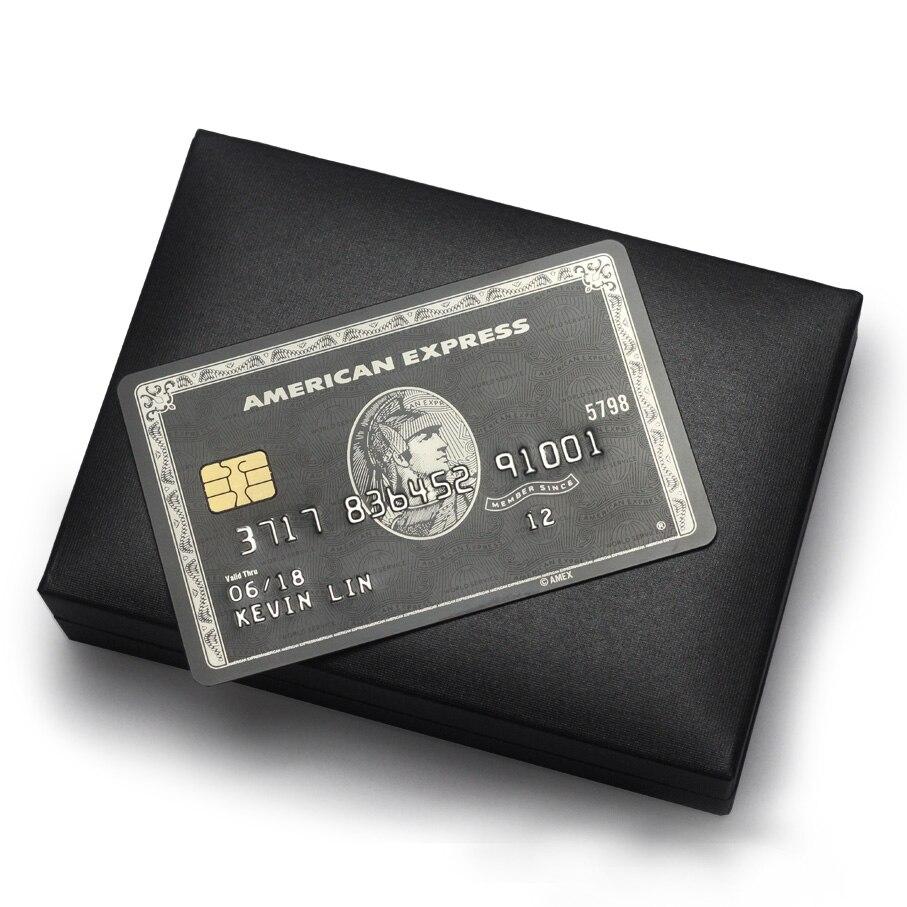 Tarjeta de Metal/American Express/tarjeta de chip Tarjeta de rayas magnéticas/La tarjeta negra de centurión/envío gratis-in Tarjetas de negocios from Suministros de oficina y escuela    1