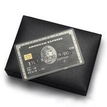 Thẻ Kim Loại Đen Thẻ Và Sản Xuất Mỹ Thể Hiện Thẻ