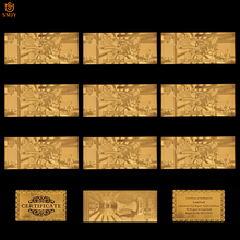 цена 10Pcs/Lot 2018 Russia World Cup Banknote Bestseller Gift 100 Rubles Gold Money Banknote Collections For Football Banknote онлайн в 2017 году