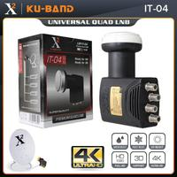 Universal Ku Band Quad LNB For Satellite TV Receiver Hight Gain Low Noise HD Digital 4