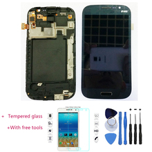 New 100% Test LCD Touch Screen Digitizer +Frame Assembly For Samsung Galaxy Grand Neo i9060 Black With Free Tools