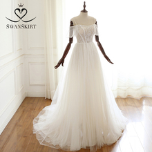 Swanskirt Long-sleeved wedding dress lantern sleeve