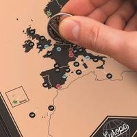 Khuyến mãi Mạo Hiểm Xô Danh Sách Scratch Bản Đồ Travel Book với Bản Đồ Danh Sách Hơn 300 Kinh Nghiệm