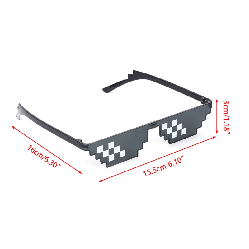 Mosaic Sunglasses Trick Toy Thug Life Glasses Deal With It Glasses Pixel Women Men Black Mosaic Sunglasses Funny Toy Oct26 Home Appliance Parts