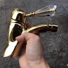 Singe Отверстие Ванная, смеситель для биде смесителя золотого цвета на бортике без слива