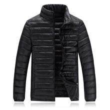 New 2016 Autumn Winter Jacket Men Warm Down Jacket Men Outerwear Zippers Down Cotton Solid Coat ABYR013
