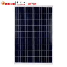 Dokio Marke 100 Watt Polykristallinem Silizium Solarpanel China 18 V 1012x660x30 MM Größe Panel Solar Top qualität Solar Batterie China