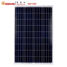 Dokio Marca 100 W de Silicio Policristalino de Paneles Solares de China 18 V 1012x660x30 MM Tamaño Del Panel Solar Batería Solar de calidad superior de China