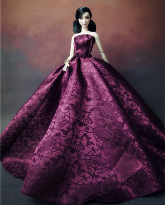 Features for Barbie doll wedding dress bjd doll clothes Barbie 6 minutes Snow White Dream Wedding