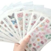 6pcs/pack Kawaii Creative DIY Dariy Decoration Scrapbooking Stickers Transparent washi Planner 13 selection