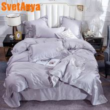 Svetanya 100 Cotton Bedding Set Linens king queen double size solid Color