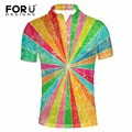 FORUDESIGNS Supreme Men Polo Shirt New 3D Mix-color Printed Polo-shirt for Male Summer Comfort Short Sleeved Casual Polo Shirts