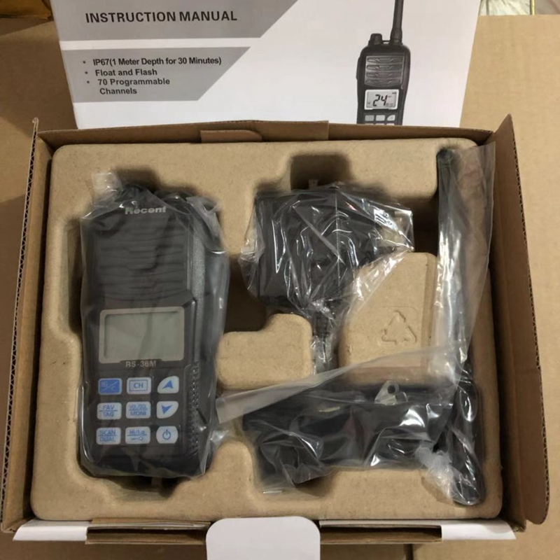 Image 4 - 2019 waterproof walkie talkie RS 36M  VHF Handheld Marine Radio Float Dual/Tri watch Ham Portable 156 161.45Mhz Transceiver-in Walkie Talkie from Cellphones & Telecommunications