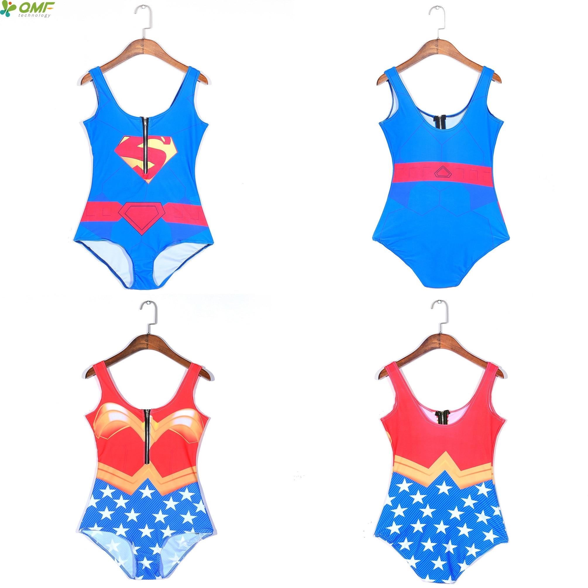 código promocional 2b8e5 3d787 Superman Natación traje para mujer Mujer Maravilla triángulo ...