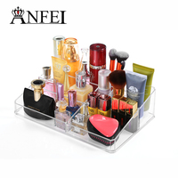 ANFEI Clear Acrylic Cosmetic Organiser Drawer Jewelry Makeup Organizer Storage Box Lipstick Nail Polish Storage Case