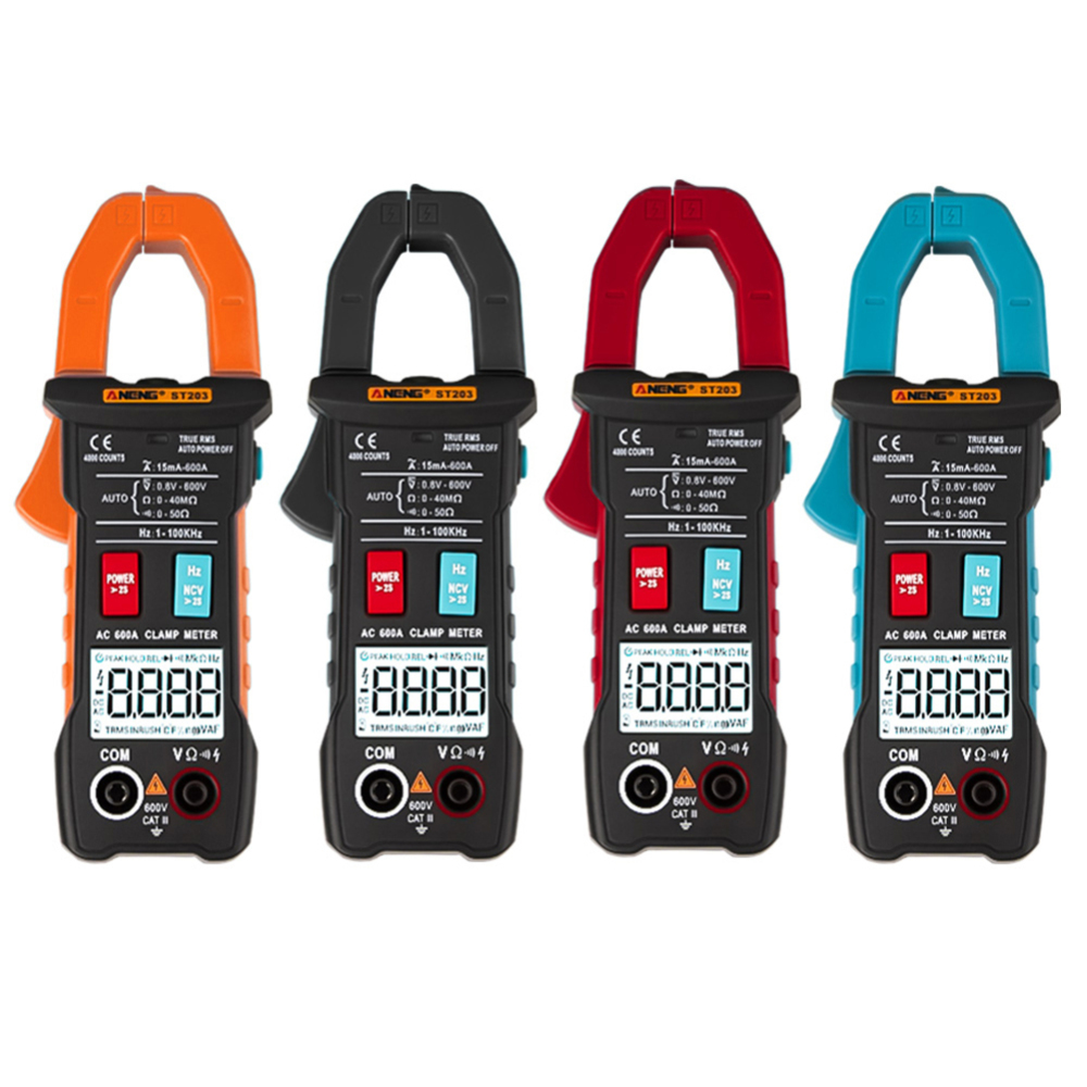 <font><b>ST203</b></font> Digital Clamp Meter Multimeter 4000counts True RMS Mini Amp DC/AC Clamp Meters voltmeter 400v Automatic Range new image