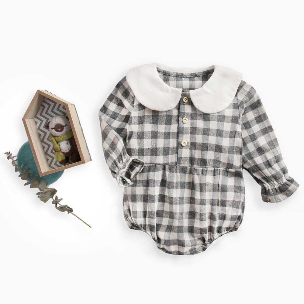 Novelty Unisex Plaid baby bodysuits long sleeve baby clothes Infant Jumpsuit Cotton girl clothes spring Overalls kids Outerwear in Bodysuits from Mother Kids