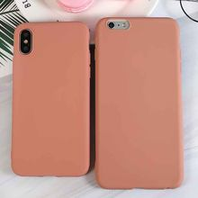 Luxe Coral Oranje Zachte Siliconen Telefoon Case Voor iPhone X XR XS Max 5 5S SE 6 6S 7 8 Plus 2019 Cover Coque Fundas(China)