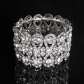 Silver Wedding Bracelet Bridal Bracelet Crystal stretch Bracelet